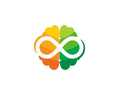 Infinity cerebro logo icon design Foto de archivo - 102099162