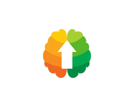 Up Brain Logo Icon Design Stock Vector - 102099173