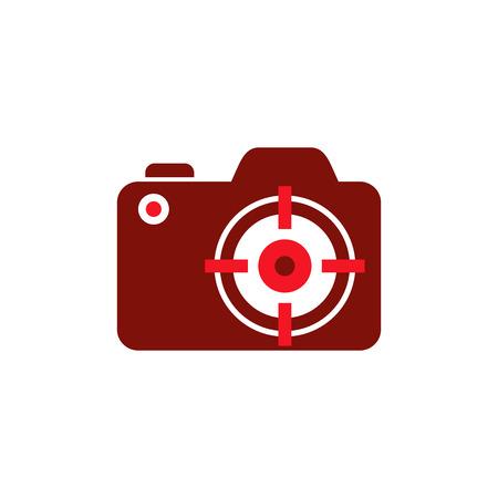 Target Camera Logo Icon Design