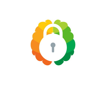 Safe Brain Logo Icon Design