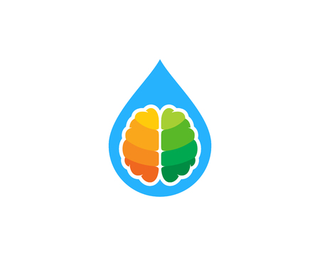 Drop Brain Logo Icon Design