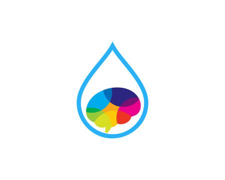 Liquid Brain Logo Icon Design
