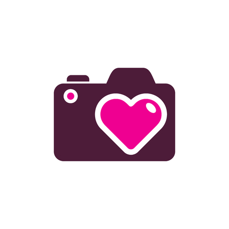 Romantic Camera Logo Icon Design