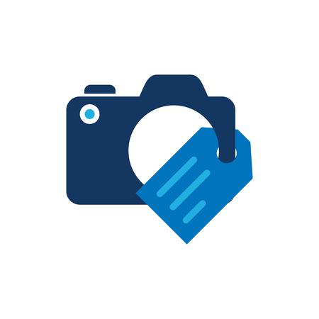 Tag Camera Logo Icon Design Illustration