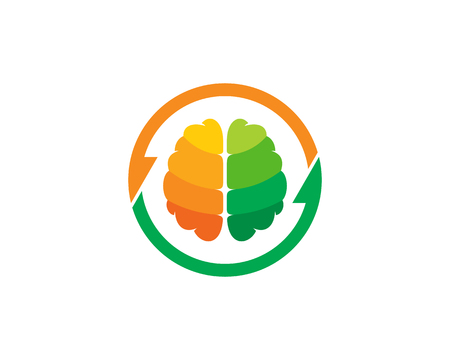 Transfer Brain Logo Icon Design