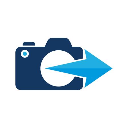Arrow Camera Logo Icon Design Illustration