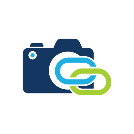 Connect Camera Logo Icon Design