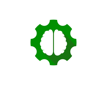 Wheel Brain Logo Icon Design