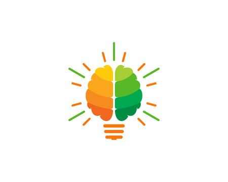 Innovation Brain Logo Icon Design Çizim