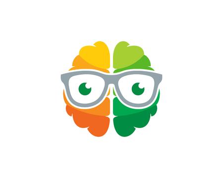 Geek Brain Logo Icon Design Stock Vector - 100973127