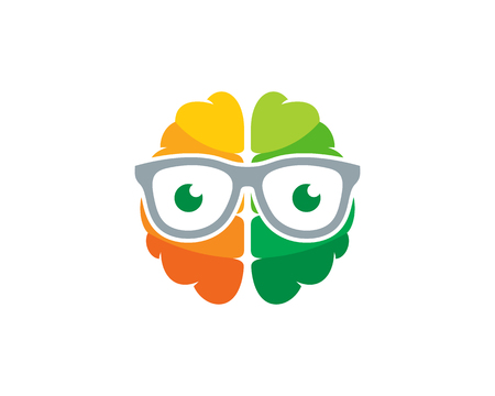 Geek Brain Logo Icon Design
