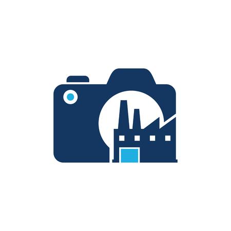 Factory Camera Logo Icon Design