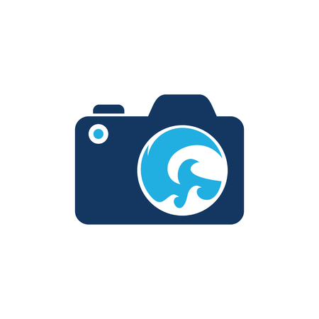 Wave Camera Logo Icon Design