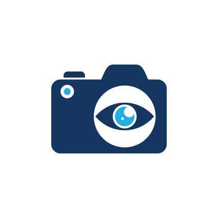 Eye Camera Logo Icon Design Illustration