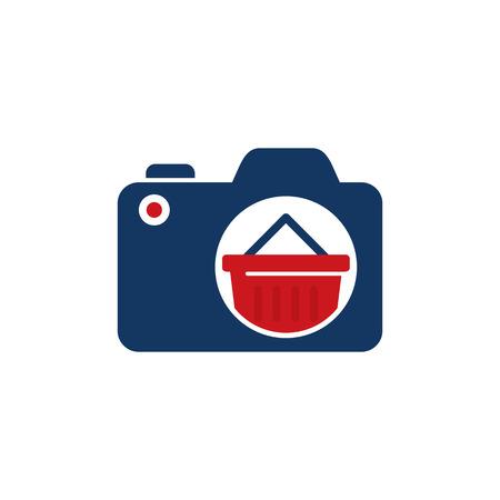 Shop Camera Logo Icon Design Stock Illustratie
