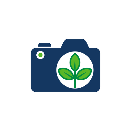 Nature Camera Logo Icon Design Illustration