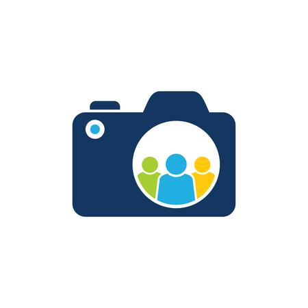 Group Camera Logo Icon Design