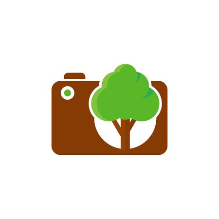 Tree camera icon design.