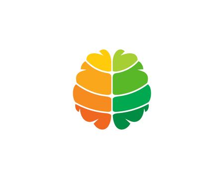 Brain Logo Icon Design Stock Vector - 101492290