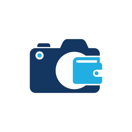 Wallet Camera Logo Icon Design