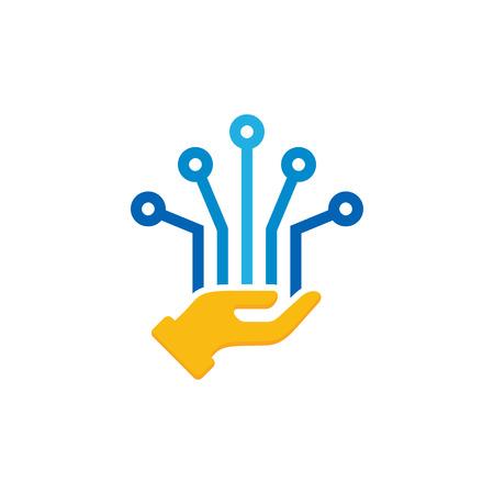 Digital Care Logo Icon Design