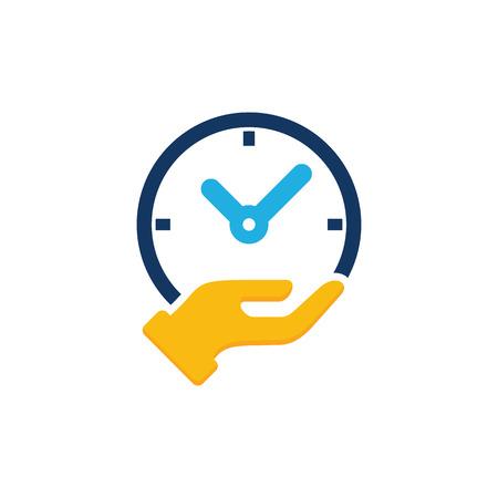 Time Care Logo Icon Design Illustration