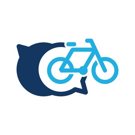 Bike Chat Logo Icon Design