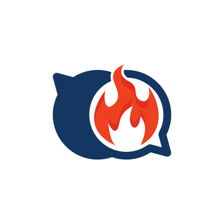 Flame Chat Logo Icon Design