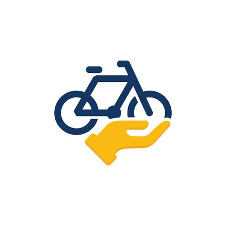 Bike Care Logo Icon Design Stock Illustratie