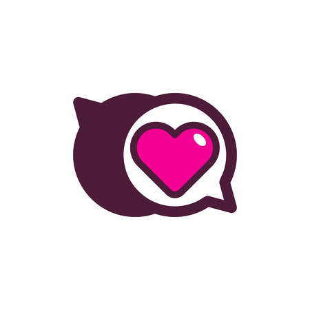 Love Chat Logo Icon Design