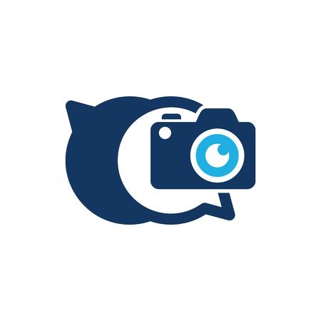 Camera Chat Logo Icon Design