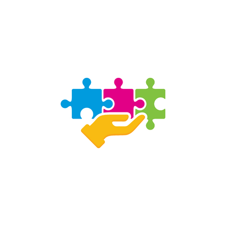 Puzzle Care Logo Icon Design