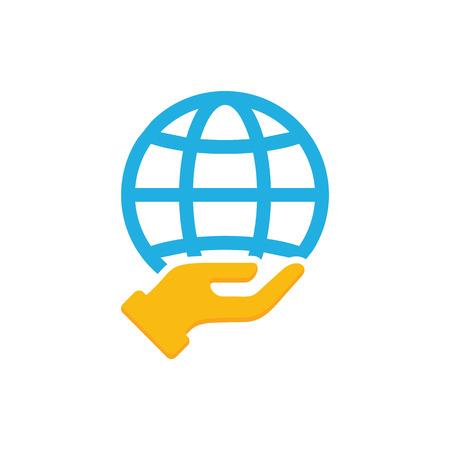 Globe Care Logo Icon Design