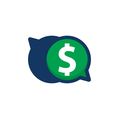 Money Chat Logo Icon Design