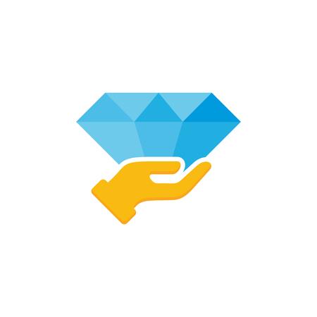 Diamond Care Logo Icon Design