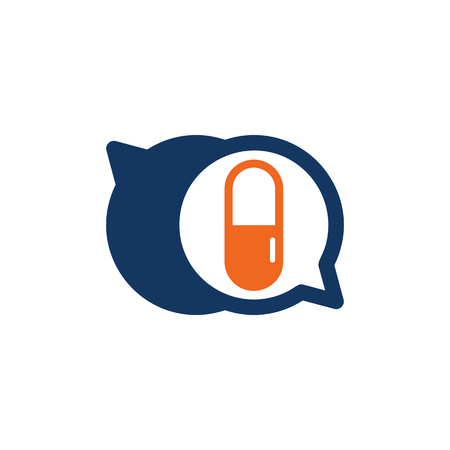 Medicine Chat Logo Icon Design Illustration