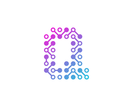 Q Circuit Digital Letter And Number Logo Icon Design Illustration