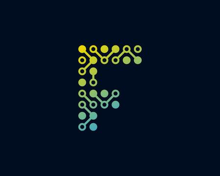 F Circuit Digital Letter Logo Icon Design Stock Vector - 100992322