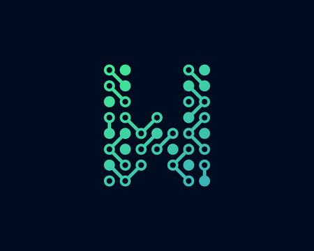 W Circuit Digital Letter Logo Icon Design