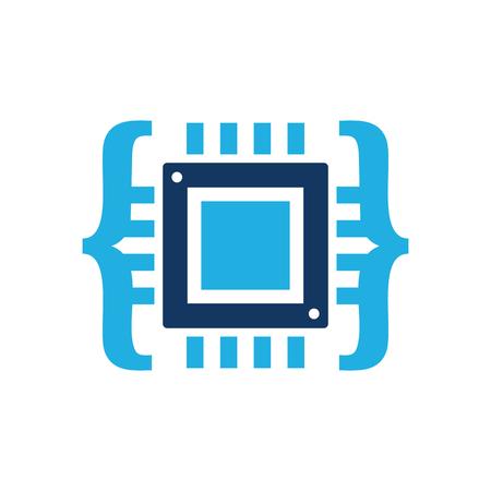 Chip Code Icon Design