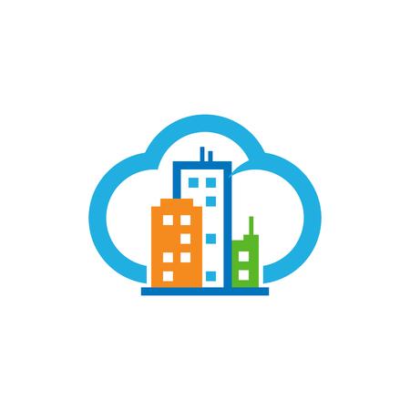 City Cloud Logo Icon Design Stock Illustratie
