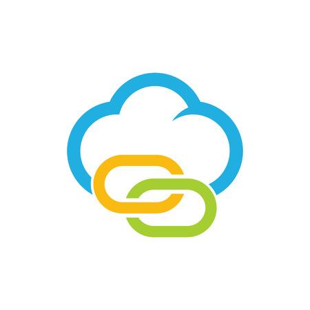 Connect Cloud Logo Icon Design