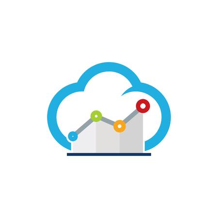 Stats Cloud Logo Icon Design