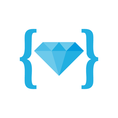 Diamond Code Logo Icon Design
