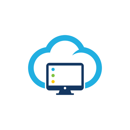 Computer Cloud Logo Icon Design