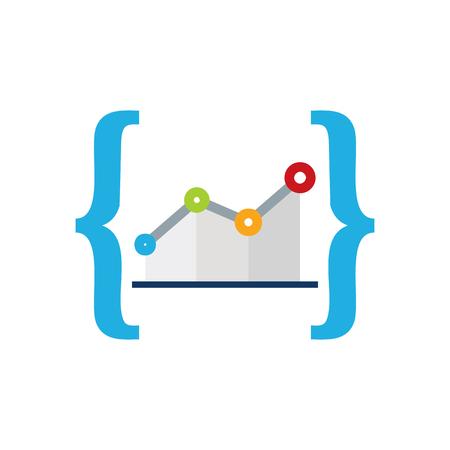Stats Code Logo Icon Design