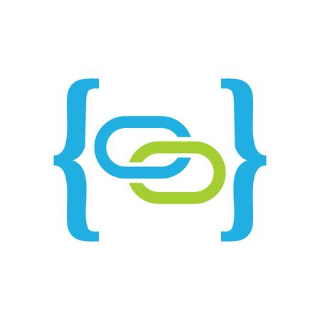 Connect Code Logo Icon Design