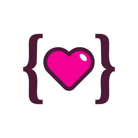 Love Code Logo Icon Design