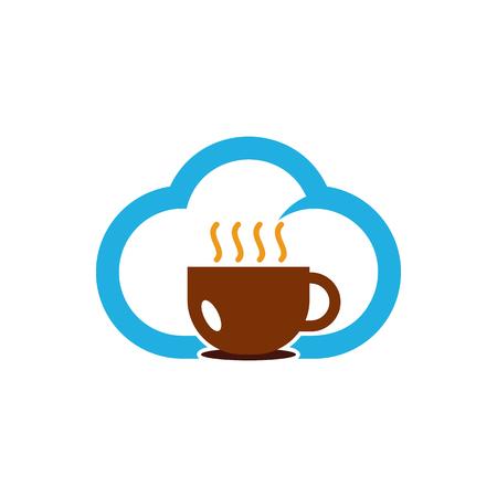 Coffee Cloud Logo Icon Design