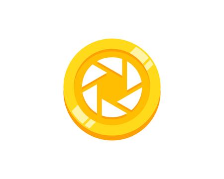 Lens Coin Logo Icon Design